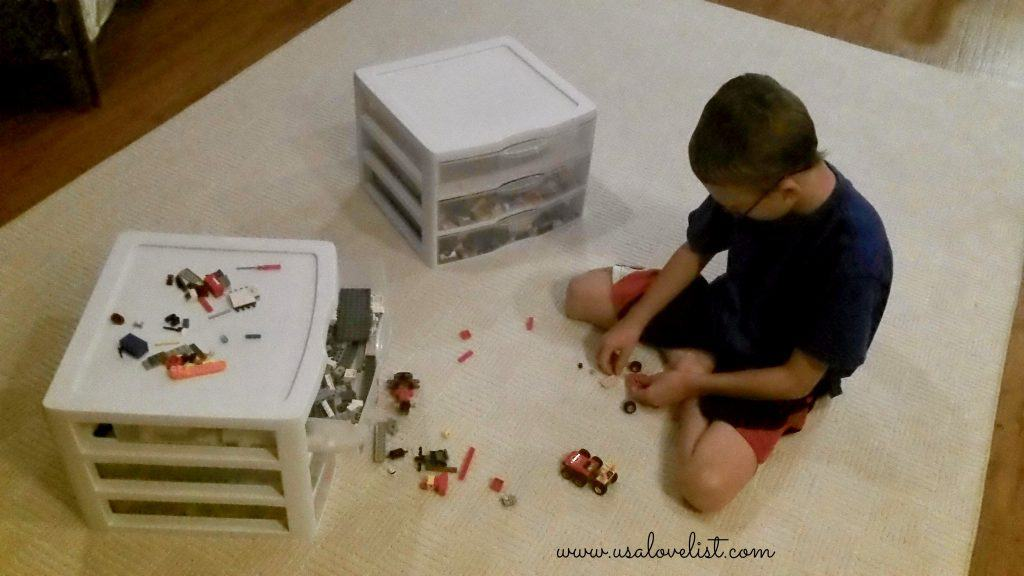 Sterilite Clearview #madeinUSA storage drawers- perfect for Lego and K'Nex pieces