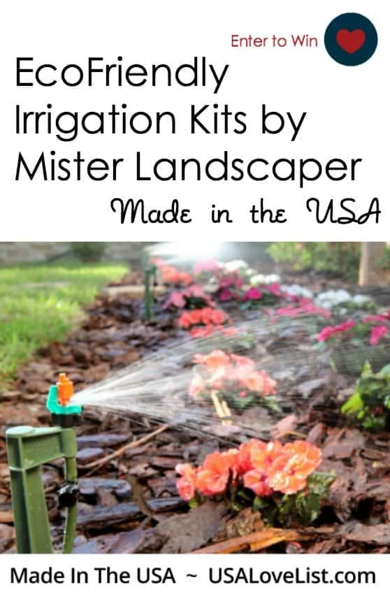 EcoFriendly irrigation kits garden watering systems Conserve water Made in USA