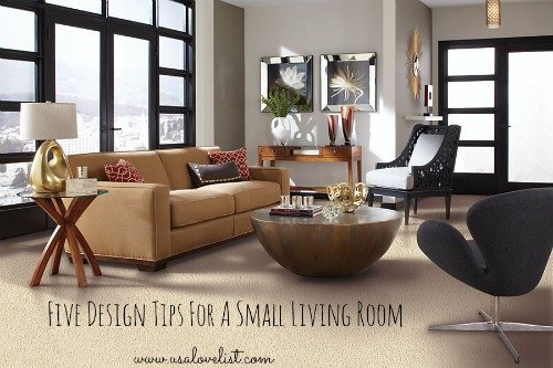 Five Design Tips For A Small Living Room