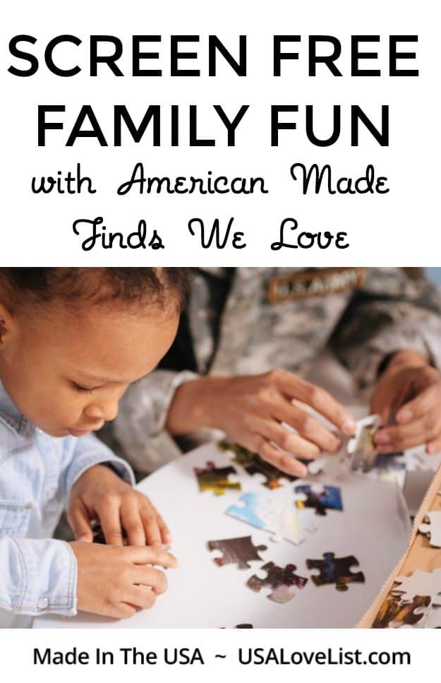 Screen Free Family Fun with American made products we love