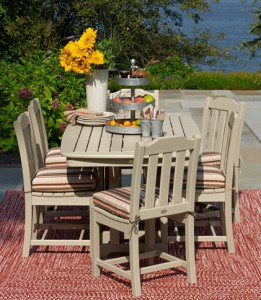 Outdoor entertainging tips | LL Bean All- Weather furniture #madeinUSA