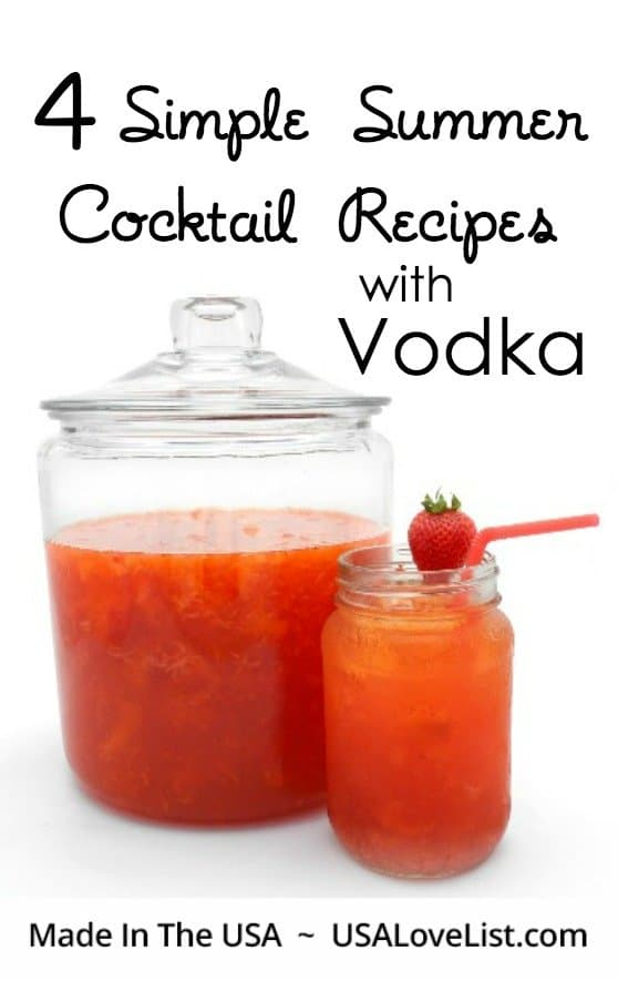 Four simple summer cocktail drink recipes with vodka usa for Easy vodka drink recipes