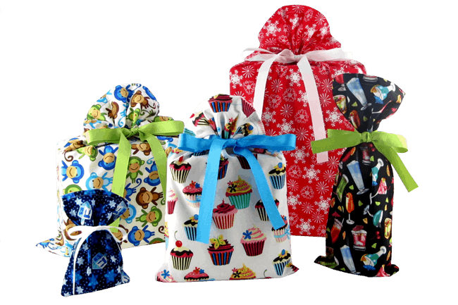 Vz wraps reusable fabric gift bags a christmas in july