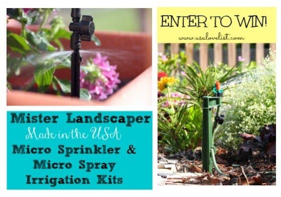 Mister Landscaper Micro sprinkler and Micro Spray Irrigation Kits {Giveaway}