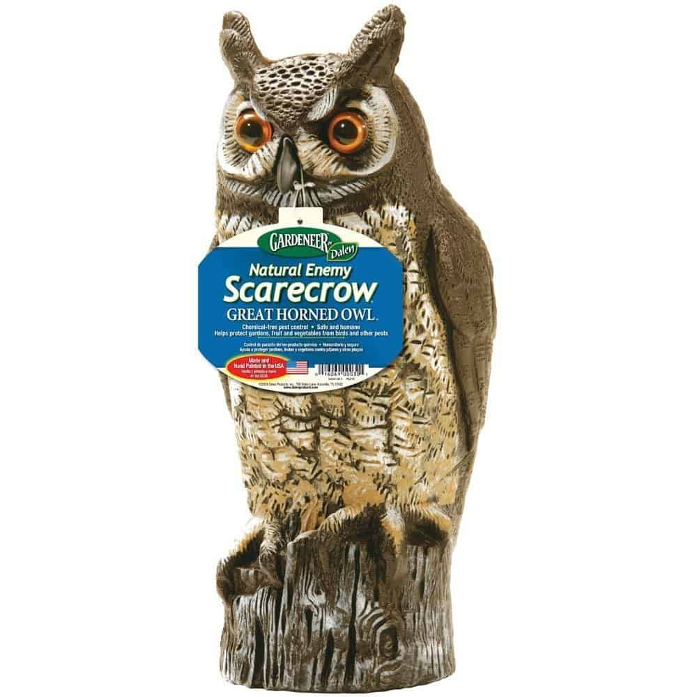 Best gardening supplies | Owl scarecrow | Made in USA | garden pest control #garden #gardening #usalovelisted