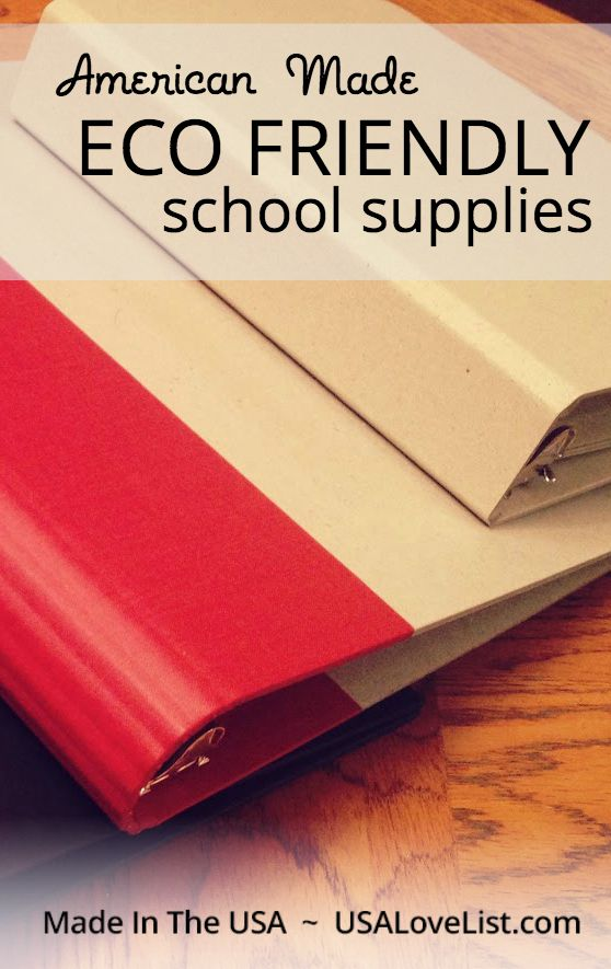 American Made Eco friendly school supplies