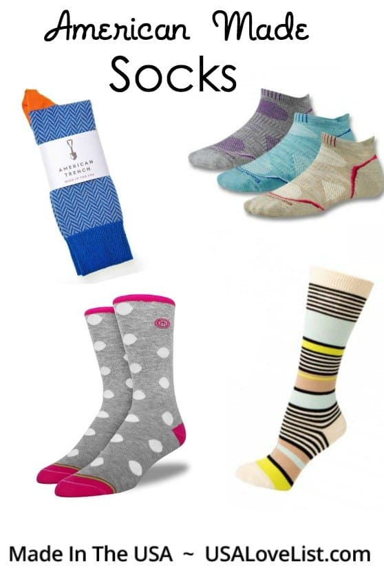 American Made Socks via USALoveList.com