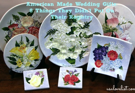 American Made Wedding Gifts From Salt Marsh Pottery via USALoveList.com