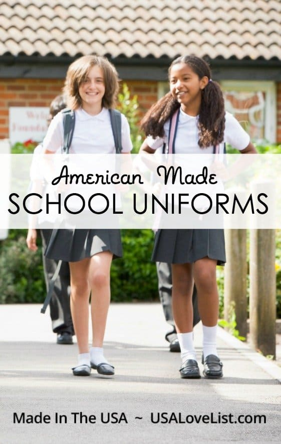 American made school uniforms