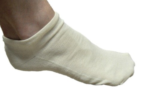 Organic Cotton Ankle Socks Made in USA From Only Footprints via USALoveList.com
