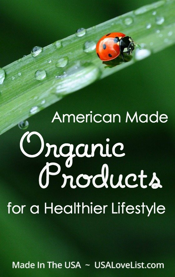 Organic Products for a healthier lifestyle Made in USA product suggestions