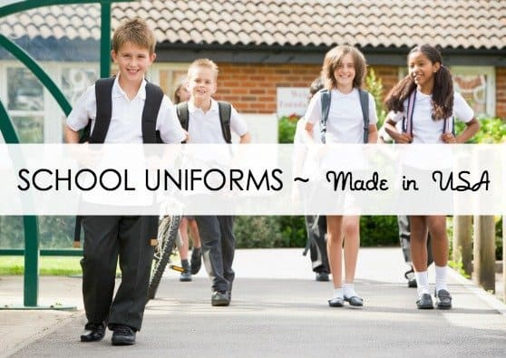 Three Sources for Made in the USA School Uniforms