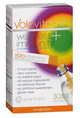 Volo Vitamins Immunity & Wellness | Vitamin stick packs | Gluten free | Made in USA| Morning routine must have!