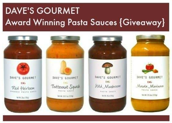 Giveaway: Dave's Gourmet Award Winning Gourmet Pasta Sauces