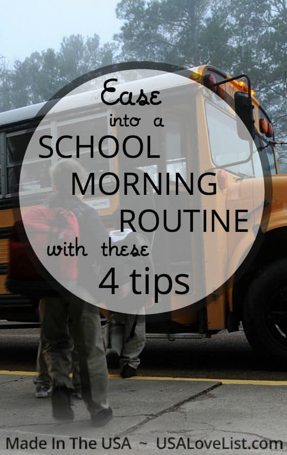 get into a school morning routine with this 4 tips