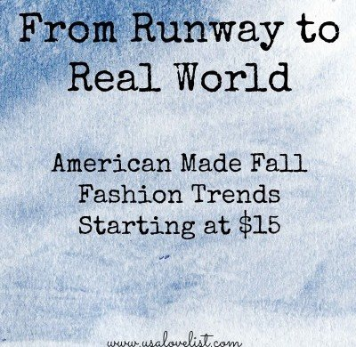 American Made Fall Fashion Trends Under $15