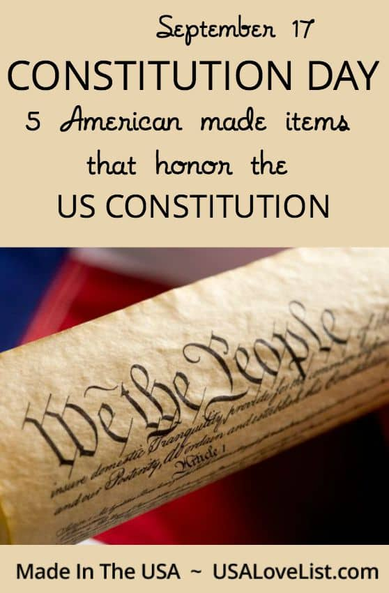 Constitution Day | September 17| American made items that honor the US Constitution