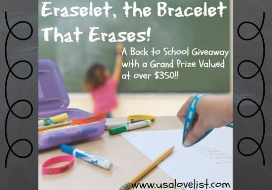 Eraselet, the bracelet that erases! #madeinusa Giveaway event ends 9/18/14