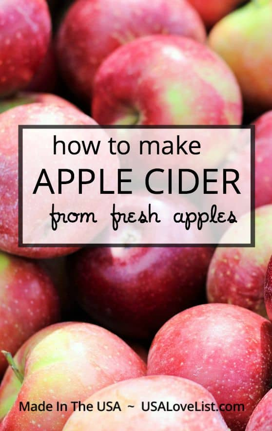 How to make apple cider from fresh apples