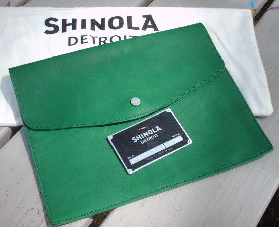 Shinola Leather Tech Envelope. American Made Tech Accessories via USA Love List