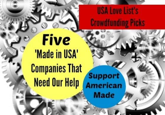 USA Love List's 'Made in USA' crowdfunding picks. Support American made!