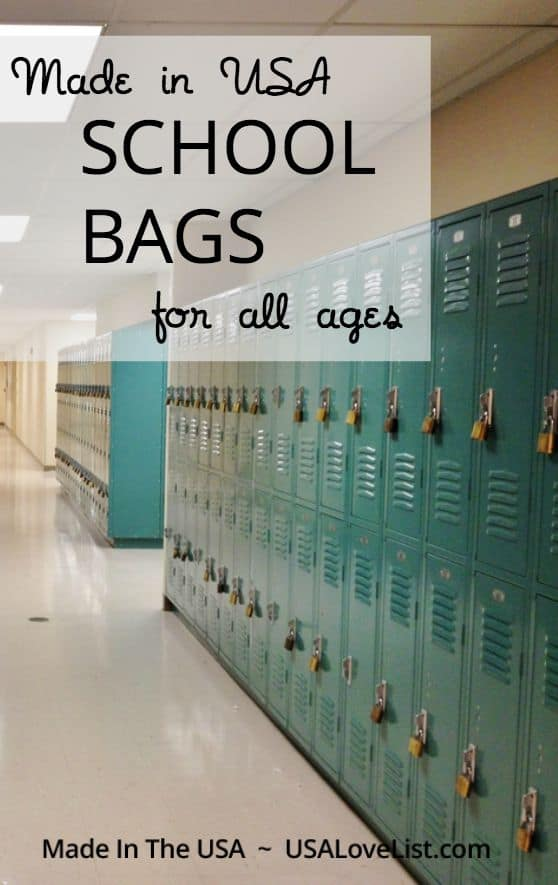 Made in USA School Bags for all ages | Backpacks, messenger bags, and more!