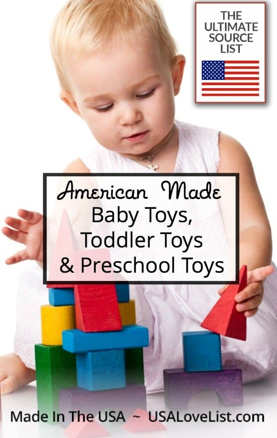 American Made Baby Toys, Toddler Toys & Preschool Toys | Rattles, blocks, pretend play and more!