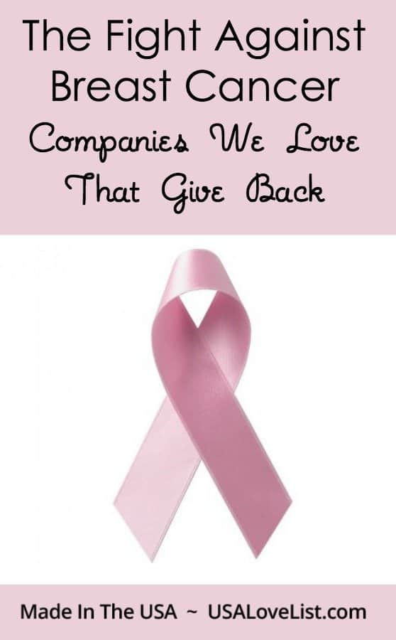 american made companies that support breast cancer