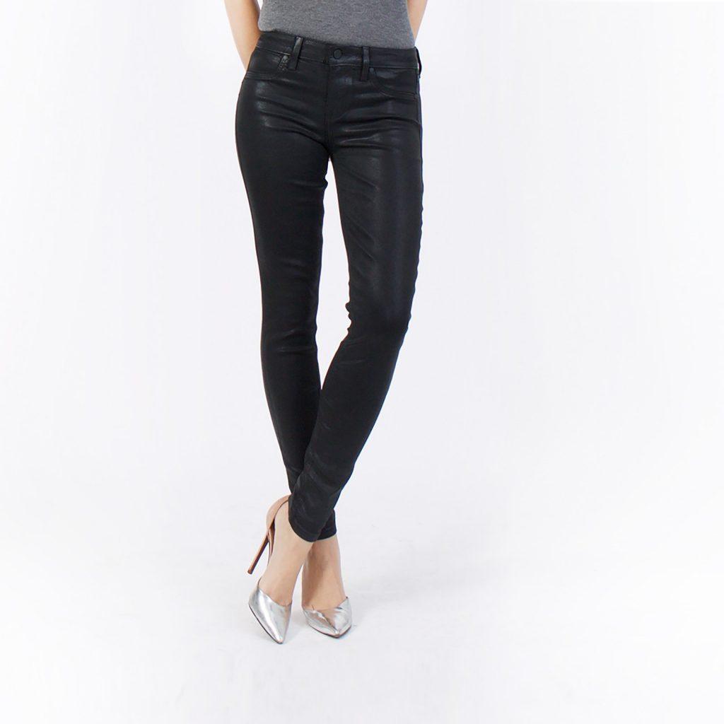 Level99 Black Coated Denim - Fall Fashion We Love