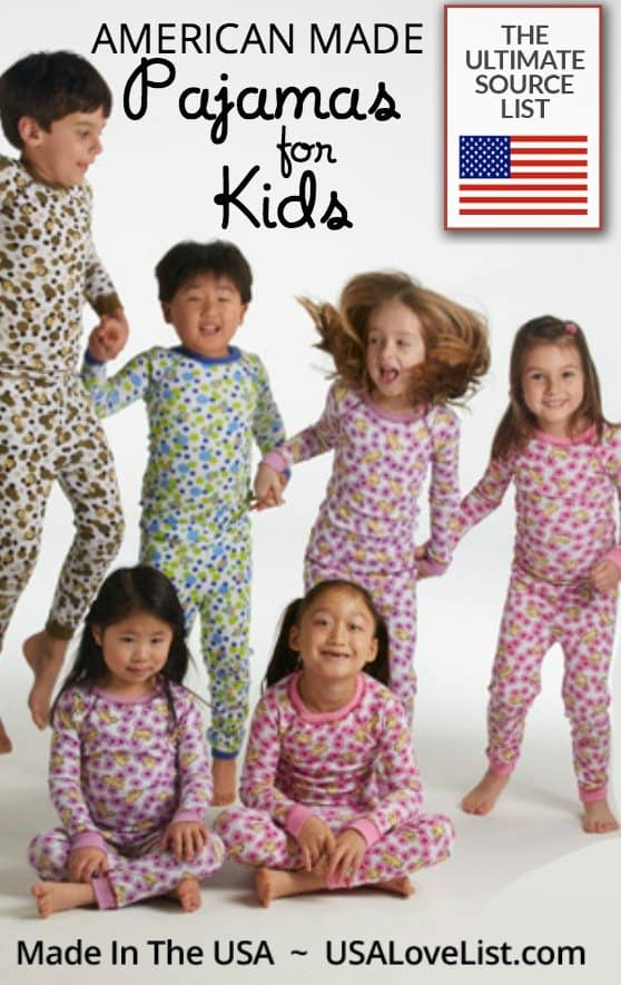 Pajamas for kids | American made children's PJs | Made in USA kids clothing