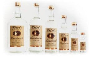 Tito's Handmade Vodka, made in Texas #giftsformen #mancave