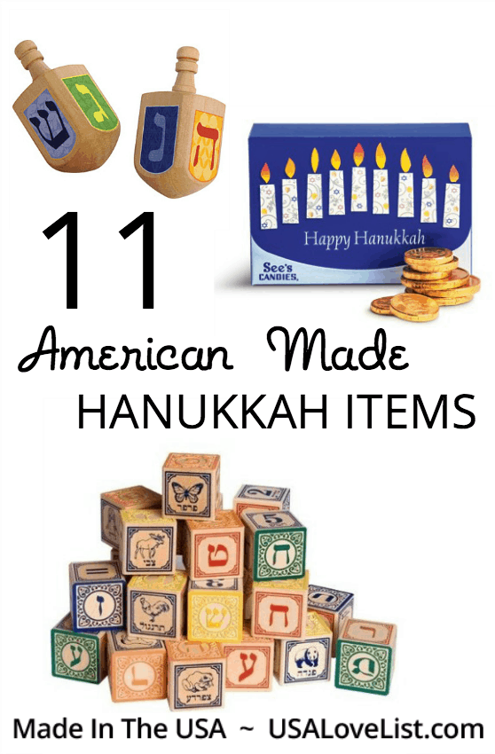 American made Hanukkah items Hanukkah necessities made in USA