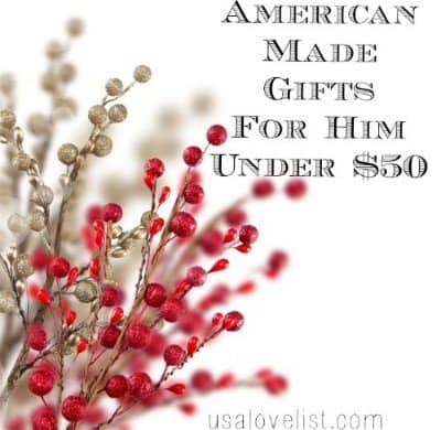 American Made Men's Gifts via USALoveList.com