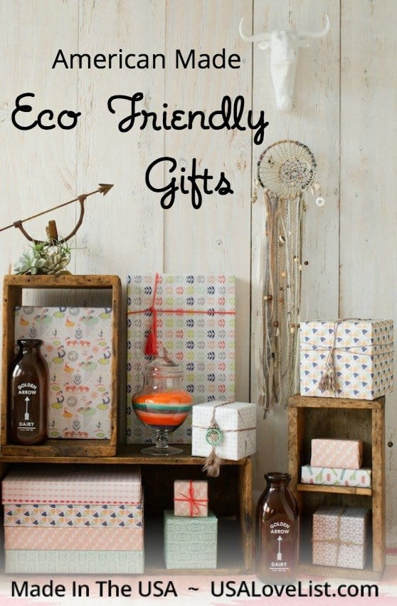 Eco Friendly Gift ideas via USALoveList.com