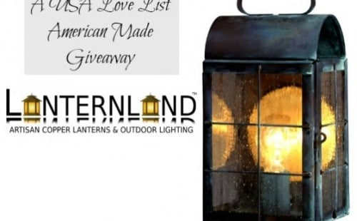 Enter to win handmade, Made in USA lighting in brass or copper from Lanternland.