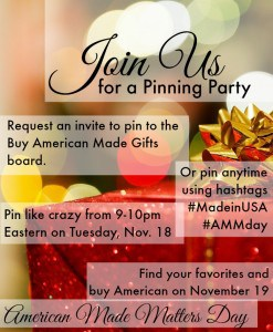 Join us for a 'Buy American Made Gifts' Pinterest Party