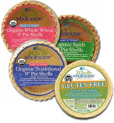 Wholly Wholesome pie shells | organic, gluten free pie shells