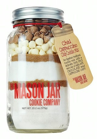 30 Gifts Under $30: The Mason Jar Cookie Company Chai Cappuccino Chip Cookie Mix #madeinUSA