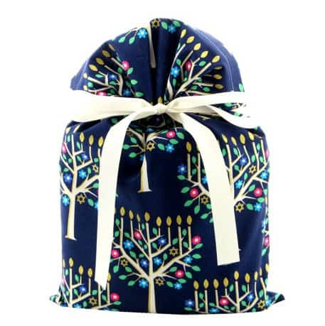 Hanukkah fabric gift bags by VZwrap | Eco Friendly gift wrapping