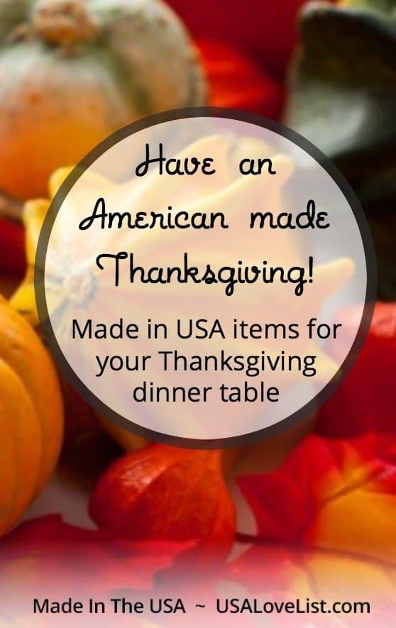 Thanksgiving dinner table | American made Thanksgiving