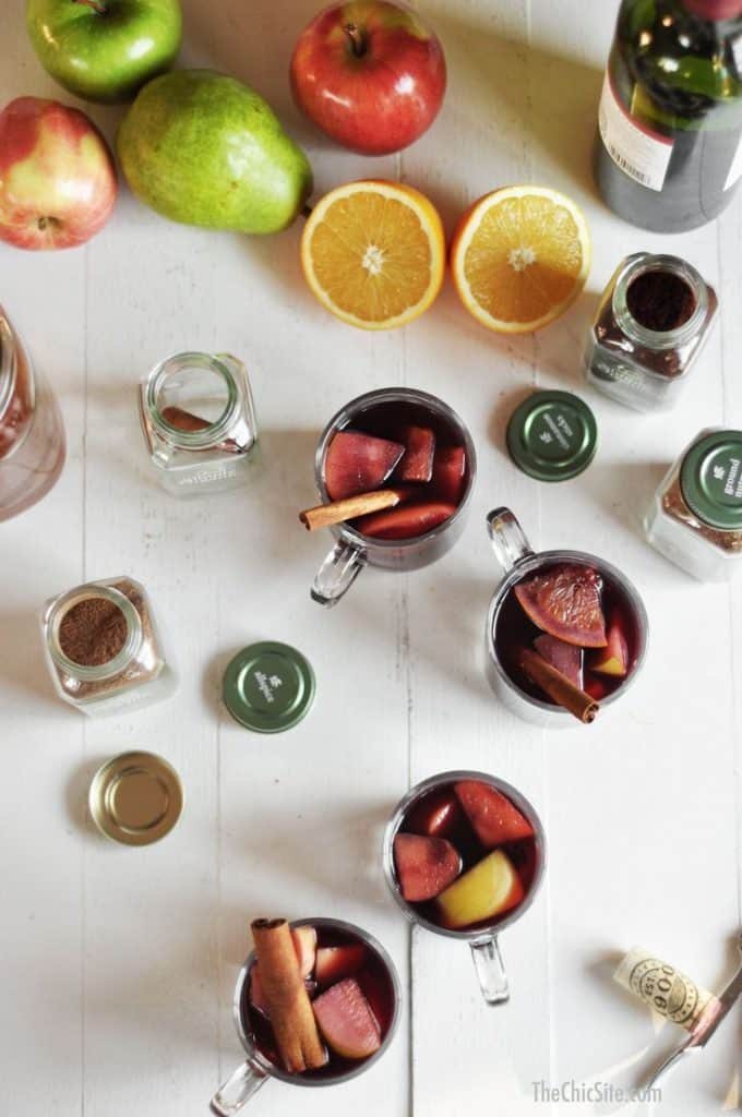 Simple Crockpot Sangria Recipe With Simply Organic Spices via USALoveList.com
