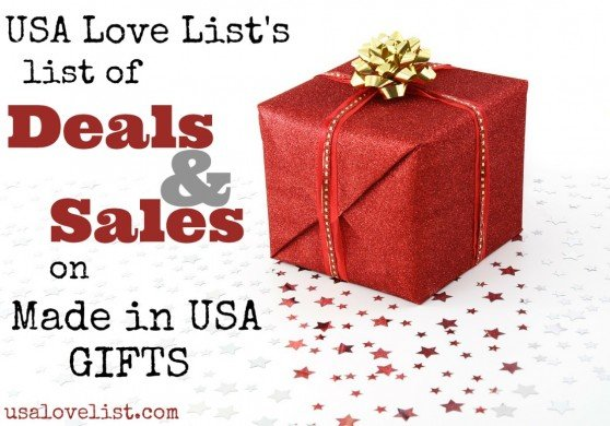 Want to buy American Made gifts? Check this list of Deals and Sales TODAY!