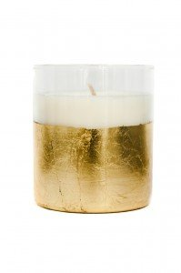 gold and white hand poured candle #madeinLA