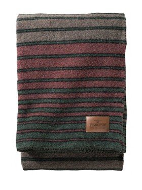 Hemrich Stripe Camp Blanket made in Oregon by Pendleton #giftsformen #mancave #madeinUSA