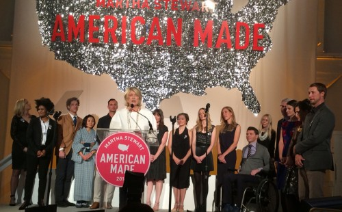 Martha Stewart and the winners of the 2014 American Made Awards