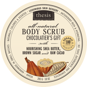 thesis all natural Chocolatier's Gift Body Scrub #madeinUSA gift idea, under $30
