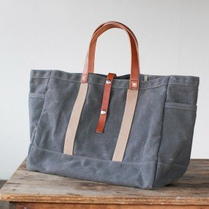 No. 175 Tool/Garden Tote in Slate & Russet by Artifact Bags, made in Nebraska #madeinUSA #giftsformen