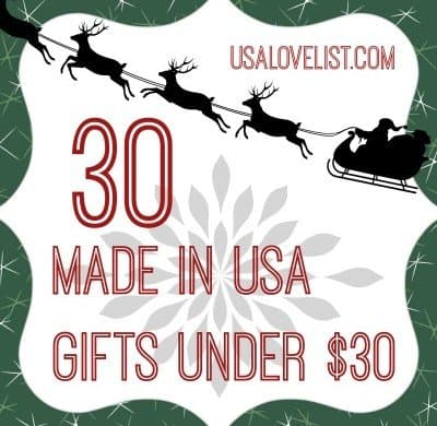 BIG lists of stylish, affordable American Made Gifts