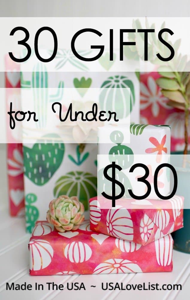 Sarah's Picks! 30 American Made Gifts Under $30