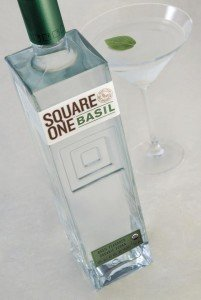 Thai-Basil Grapefruit Martini With Square One Organic Vodka via USALoveList.com